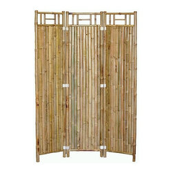 """Bamboo54 - 3 Panel Bamboo Screen - Let the natural elements found within bamboo furniture shade you with this 3 Panel Bamboo Screen by Bamboo54. Combining real, durable bamboo with the aesthetic of eastern culture design, this screen offers a simple elegance that will accent any type of room. Each 16"""" Screen folds out into a 3 panel design. Features: - Made from real bamboo - 3 panel bamboo root design - Dimensions: 63"""" H x 48"""" W"""