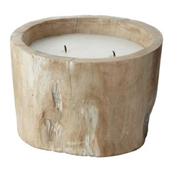 Lazy Susan - Lazy Susan White Pepper Log Candle - Made from white pepper wood
