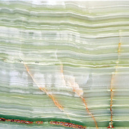 """Aquarius Onyx - 9"""" x 18"""" Vein Cut Onyx tile. Suitable for interior and exterior walls and floors."""