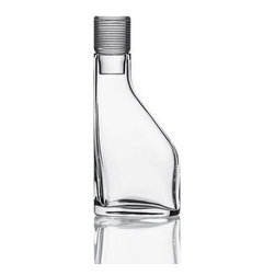 Bomma - 3.2.1 Collection 17 oz Small Decanter - The 3.2.1 Collection 17 oz small decanter is a stylish choice for enjoying your next libation.  About the design of 3.2.1, designer Jeff Miller said, In conceiving of a contemporary collection of crystal I wanted to strip away a lot of the pomp and let the flowing vessels of clarity speak for themselves. The decanters' rounded triangular bases afford complementary juxtaposition, and the seamless vertical morphing of that triangle into a circular column is what gives the collection its name and essential character. The 3.2.1. decanters boast a heavy, chunky stopper that puts a substantial mass of crystal in the palm. The stoppers are hand-etched with a delineated clean modern detail, and it's the cue for rounding out the rest of the line. The tumblers and drinking glasses, also hand-etched, rely on the same measure of base and texture to provide a pleasant weight and a good feel.