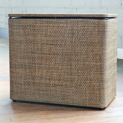 None - Roxie 1530 Brown Bench Hamper - This versatile bench hamper goes above and beyond. With its chic,contemporary design,this handsome hamper doubles as a cozy place to sit and relax. Better yet,the storage space and hinged lid let you discreetly collect your household laundry.