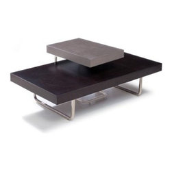 CT01C Rectangular Coffee Table - Espresso - The CT01C Rectangular Coffee Table - Espresso stands out amongst its coffee table contemporaries when it is paired with matching end table to create two tiers. Crafted from ash veneer in an espresso finish and then fitted with tubular steel legs, this bold and black coffee table is also sleek and refined by itself. Sleek and contemporary, this piece makes a nice add-on to any living room decor.About Beverly Hills FurnitureKnown as the premier purveyor of contemporary furniture, Beverly Hills Furniture is a U.S.-based importer and wholesaler of modern furniture. The Jersey City, NJ-based company has a passion for the very finest designs and quality. The success Beverly Hills Furniture has enjoyed with its retail dealers over the years is a testament to the tremendous marketability of their products.
