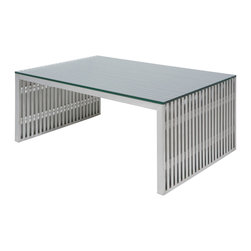 Nuevo Living - Amici Coffee Table in Stainless Steel by Nuevo - HGDJ162 - The Amici Coffee Table in Stainless Steel by Nuevo features a