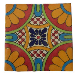 """Casa Daya - 12 Hand Painted Made to Order Talavera Tile Set - Set of twelve 4"""" x 4"""" tiles for your craft or construction project."""