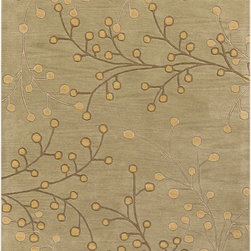 """Surya - Transitional Athena Hearth 2'0""""x4' Hearth Olive Area Rug - The Athena area rug Collection offers an affordable assortment of Transitional stylings. Athena features a blend of natural Olive color. Hand Tufted of 100% Wool the Athena Collection is an intriguing compliment to any decor."""