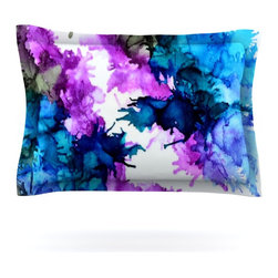 "Kess InHouse - Claire Day ""Utopia"" Blue Pink Pillow Sham (Cotton, 40"" x 20"") - Pairing your already chic duvet cover with playful pillow shams is the perfect way to tie your bedroom together. There are endless possibilities to feed your artistic palette with these imaginative pillow shams. It will looks so elegant you won't want ruin the masterpiece you have created when you go to bed. Not only are these pillow shams nice to look at they are also made from a high quality cotton blend. They are so soft that they will elevate your sleep up to level that is beyond Cloud 9. We always print our goods with the highest quality printing process in order to maintain the integrity of the art that you are adeptly displaying. This means that you won't have to worry about your art fading or your sham loosing it's freshness."