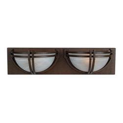 YOSEMITE HOME DECOR - 2 Lights Vanity in Dark Brown Frame - Hardwire : Yes