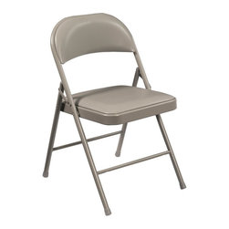 National Public Seating - National Public Seating Commercialine Vinyl Padded Folding Chairs - 4 Pack - 952 - Shop for Folding Chairs from Hayneedle.com! Seat your guests in dependable comfortable style with the Commercialine Vinyl Padded Folding Chairs - Set of 4. These solid reliable padded commercial folding chairs will easily meet all your needs for both convenient seating and storage. A 19-guage steel frame is supported by a single-hinge folding mechanism and two tack-welded leg braces for a large 250-lb. weight capacity. Easily folds for manual or cart storage. Available in grey or blue.About National Public SeatingNational Public Seating provides seating products of the highest quality grade materials and craftsmanship for educational religious hospitality government commercial and other institutional markets. Incorporated in 1997 National Public Seating is based in Clifton N.J. and offers one of the nation's largest lines of quick-ship in-stock folding chairs and tables stack chairs stools and dollies. Other product lines include stages risers science tables and mobile cafeteria tables. Their high-quality products are currently in use in tens of thousands of facilities nationwide.Mindful of Our EnvironmentNational Public Seating is committed to preserving the quality of their products and the quality of the environment. To this end the company manufactures their products with varying percentages of pre- and post-consumer waste (recycled material). All of the steel for their products contains 30-40% of post-consumer waste and their plastic products contain up to 35% of pre-consumer waste. All of the wood used for their products comes from non-boreal forests. National Public Seating also uses powder-coat finishes instead of liquid finishes in order to prevent pollutants from being released into the atmosphere and to reuse retrieved overspray. All these efforts and more help their employees and customers be mindful of the environment.