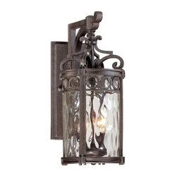 Minka-Lavery - Minka-Lavery Regal Bay 2-Light Outdoor Wall Mount - 9222-256 - This 2-Light Wall Lantern has a Black Finish and is part of the Regal Bay Collection.