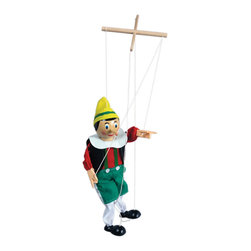 "The Original Toy Company - The Original Toy Company Kids Children Play Original Wooden Marionette Pinocchio - Individually boxed with a retail window. Aprox 15"" tall excluding strings. Ages 5 years plus. Weight: 2 lbs."
