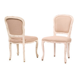 Four Hands - Orleans Dining Chair, French White - If you've got a taste for romance, this charming chair belongs in your traditional dining room. With a gently curved frame of solid hardwood, slightly distressed for a vintage vibe, and 100 percent cotton upholstery, it's as beautiful as it is comfortable.