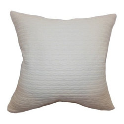 """The Pillow Collection - Katharina Plain Pillow Creme 20"""" x 20"""" - This tasteful and simple throw pillow is perfect for modern living. The creme colored accent pillow features an interesting texture.This decor pillow is perfect for your sofa, sectionals and loveseats. The square pillow adds comfort and style to your furniture. Combine this 20"""" pillow with solid color and pattern pillows for coordinated home decor style. Hidden zipper closure for easy cover removal.  Knife edge finish on all four sides.  Reversible pillow with the same fabric on the back side.  Spot cleaning suggested."""