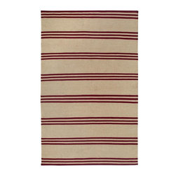 Rizzy Rugs - Solid/Striped Swing 2'x3' Rectangle Red Area Rug - The Swing area rug Collection offers an affordable assortment of Solid/Striped stylings. Swing features a blend of natural Red color. Flat Weave of New Zealand Wool Blend the Swing Collection is an intriguing compliment to any decor.
