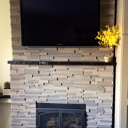 Rustic Fireplace Mantels - Reclaimed Wood  Mantle Shelf