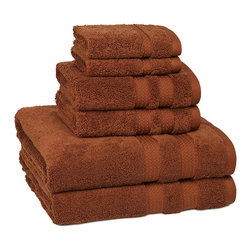 Belaire Ring Spun Cotton Towels Cinnabar (Rust) - Energy saving supremely-soft ultra-plush Bath Towels with state of the art quick drying properties. Ultra-Fine Ring Spun Cotton has a luxurious look and feel. Your body will be amazed at the soft plush lightweight feel.