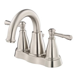 """Danze - Danze D301015BN Brushed Nickel Eastham Centerset Bathroom Faucet From - Product Features:Faucet body and handles feature all-brass constructionFully covered under Danze's limited lifetime faucet warrantyHigh-quality finishing process – finish covered under lifetime warrantyBathroom faucets from Danze are engineered to function flawlessly and feature enduring designsDouble handle operation – handles rest on 1/4 turn valve seatsMatching pop-up drain assembly includedADA compliant handleLow lead compliant – meeting federal and state guidelines for lead contentWaterSense Certified – uses at least 30% less water than standard 2.2 GPM faucets while still hitting strict performance guidelinesDesigned for use with standard U.S. plumbing supply bibsAll hardware required for faucet installation is includedProduct Technologies and Benefits:Water-Saving Faucet: Danze takes a vested interest in helping to protect our world's most precious resource, water. A low-flow aerator conserves 30% or more water when compared to the industry standard 2.2 gallon-per-minute models. The best part about WaterSense faucets is you compromise absolutely nothing in the way of performance; they are held to the same strict guidelines as any model produced.Drip-Free Ceramic Disc Valves: By making these components standard across all of their bathroom faucets, Danze has made leaking and rough operating faucets a thing of the past. These valves provide a lifetime of smooth handle control, and never allow a drop of water out of place. They are maintenance free and are sturdy enough to withstand the most severe conditions.Product Specifications:Overall Height: 6-11/16"""" (measured from mounting deck to highest point on faucet)Spout Height: 3-3/4"""" (measured from mounting deck to spout"""