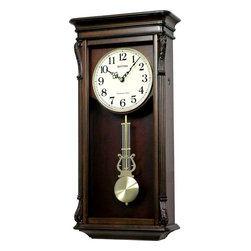 Rhythm - WSM Rembrandt II Wooden Musical Clock - Finished in a rich espresso stain, the Rembrandt is truly a tailored piece of artwork