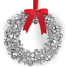 Silver Bell Wreath with Ribbon | Williams-Sonoma