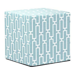 Howard Elliott Bahama Breeze No Tip Block Ottoman - The No-Tip Block is constructed with a dense light-weight foam and then topped off by a soft, high quality foam making it sturdy yet comfortable. Its unique design allows weight to be distributed evenly keeping it from tipping like most foam ottomans. Another bonus? This piece is indoor/outdoor so you can take it outside!