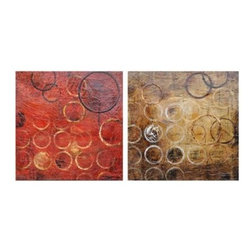 Crestview Collection - Crestview Collection Hendley Abstract Hand-Painted High-Gloss Textured Canvas Wa - Crestview Collection Hendley Abstract Hand-Painted High-Gloss Textured Canvas Wall Art X-9621POTVC