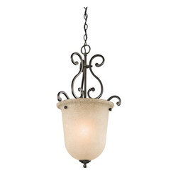 Kichler - Kichler 43228OZ Camerena Single-Bulb Indoor Pendant with Urn-Style Glass Shade - Product Features: