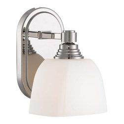 "Minka Lavery - Minka Lavery 4521-613 1 Light 8.5"" Height Bathroom Sconce - Single Light 8.5"" Height Bathroom Sconce with Etched Opal ShadeFeatures:"