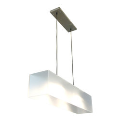 Gus Modern - Gus Modern Frosted Acrylic Hanging Lamp - You know how to light up a room. And this frosted hanging lamp testifies to your keen sense of design, too. Of course, this lamp also adjusts, so that you can fix it just above your table for a stunning effect and focused illumination.
