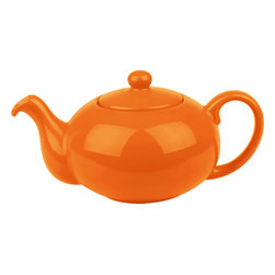 Waechtersbach - Fun Factory Tea Pot with Lid Orange - Brighten up your kitchen table with this Fun Factory Orange Tea Pot, made for serving tea and hot water. With its stout shape perfect for steeping, this ceramic tea pot will bring fun and joy into your home. Lid included.