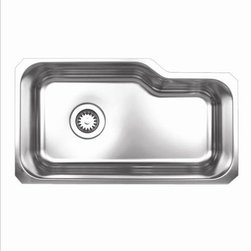 Whitehaus - Whitehaus Whnub3016 32 Undermount Sink - Brushed Stainless Steel single Kitchen Sink undermount sink