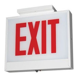 Lithonia Lighting - Lithonia Lighting Steel White LED Emergency Exit Sign LXCWRWELCH - Shop for Lighting & Fans at The Home Depot. The Lithonia Lighting Steel LED Emergency Exit Sign features a white steel housing for durability and uses a single 5-watt LED light bulb, which is included. This sign has an emergency run time of 90 minutes. This fixture must be hardwired.