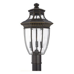 Quoizel Lighting - Quoizel Lighting GT9294IB Williamsburg 3 Light Post LightGeorgetown Collection - For over seventy years, Quoizel lighting has been dedicated to the design and production of its diversified line of fine lighting products and home accessories.