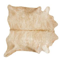 #N/A - Cow Hide Rug in Beige Brindle Large - Cow Hide Rug in Beige Brindle Large. Hair on Hide Rug Natural Form