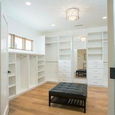 Contemporary Closet by Markay Johnson Construction