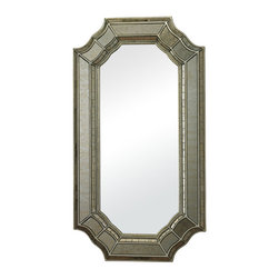 Sterling Industries - Sterling Industries 114-16 Mirror In Smoked & Hand Cut Heavy Glass Frame - Mirror (1)