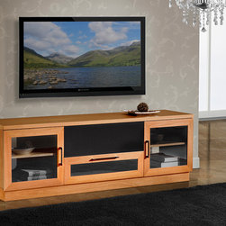 "FURNITECH - FURNITECH - MODEL FT72CCLC - 70"" Contemporary TV Media Console for Flat Screen and Audio Video Installations"
