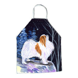 Caroline's Treasures - Starry Night Japanese Chin Apron SS8363APRON - Apron, Bib Style, 27 in H x 31 in W; 100 percent  Ultra Spun Poly, White, braided nylon tie straps, sewn cloth neckband. These bib style aprons are not just for cooking - they are also great for cleaning, gardening, art projects, and other activities, too!
