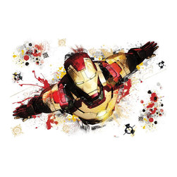 York Wallcoverings - Marvel Comics Iron Man 3 Wall Accent Graphic Decal - Features: