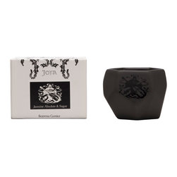 Joya - Jasmine Absolute and Sugar Candle - Sweet as sugar. Use this candle to fill your home with the candied scent of magnolia blossom, tuberose, coffee berry and toasted marshmallow. Ceramic artist Sarah Cihat designed the vessel to hold the candle, made of natural soy, beeswax, essential oils and fine fragrance.