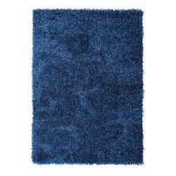 Jaipur - Flux Blueish Rectangular: 5 Ft. x 7 Ft. 6 In. Rug - - Personal expression reaches new heights with Flux, a beautiful range of plush, hand-woven shag rugs of 100% polyester. This �chameleon� is ideal for the contemporary design lover who enjoys mixing up his or her personal space often � acting as a rich background to a diverse palette of furnishings and accessories. Highly textured shag construction brings comfort underfoot while a palette of fashionforward solid hues commands attention in any room  - Cleaning and Care: Polyester is dirt and stain resistant and will look great for a long time just by vacuuming regularly. Dries fast so deep steam/rug cleaning works great to release dirt from fiber. If spills occur blot immediately. Use rug/carpet cleaners that are safe on synthetic fibers. Use professional cleaning agents only. To vacuum use an attachment arm or suction only to remove dirt particles  - Backing Material: Cotton  - Companion Item: Rug Pad  - Pile Height: 0.87  - Construction: Shag  - It is Sustainable  - Ultra Plush  - Lustrous Finish  - Solid  - Solid/Texture/Shags Jaipur - RUG101807