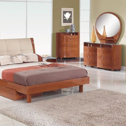 Elegant Quality High End Bedroom Furniture Sets - Evelyn bedroom set with leatherette headboard and color options. This Evelyn Collection brings stylish and elegant look to your home decor.