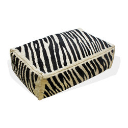 Loominary - Zebra Print Floor Cushion - Take a walk on the wild side with this stylized zebra print floor cushion. You can use it indoors or out, for enjoyment year-round.