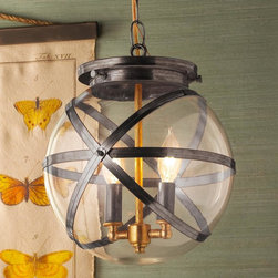 Steam Punk Indoor and Outdoor Hanging Lantern -