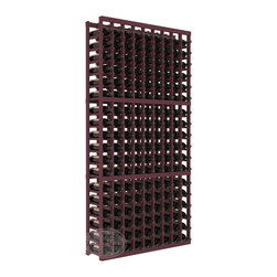 9 Column Standard Cellar Kit in Pine with Burgundy Stain - A 9 column solution from our most popular style of wine racking. Completely solid assembly to withstand extensive use. We guarantee it. All the edges of our products are softened to ensure you won't get nicks or splinters, like you will from budget brands. You'll be satisfied. We guarantee that, too.