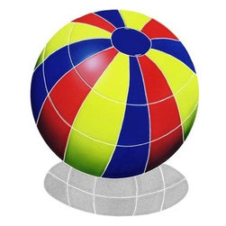 "Glass Tile Oasis - Medium Multi Color Beach Ball Pool Accents Multi Color Pool Glossy Ceramic - Sheet size:  14"" x 14""     Tile thickness:  1/4""      Sheet Mount:  Mesh Backed     Sold by the piece     - We offer six lines of in-stock designs ready for immediate delivery including: The Aquatic Line  The Shadow Line  The Hang 10 Line  The Medallion Line  The Garden Line and The Peanuts® Line.All of the mosaics are frost proof  maintenance free and guaranteed for life.Our Aquatic Line includes: mosaic dolphins  mosaic turtles  mosaic tropical and sport fish  mosaic crabs and lobsters  mosaic mermaids  and other mosaic sea creatures such as starfish  octopus  sandollars  sailfish  marlin and sharks. For added three dimensional realism  the Shadow Line must be seen to be believed. Our Garden Line features mosaic geckos  mosaic hibiscus  mosaic palm tree  mosaic sun  mosaic parrot and many more. Put Snoopy and the gang in your pool or bathroom with the Peanuts® Line. Hang Ten line is a beach and surfing themed line featuring mosaic flip flops  mosaic bikini  mosaic board shorts  mosaic footprints and much more. Select the centerpiece of your new pool from the Medallion Line featuring classic design elements such as greek key and wave elements in elegant medallion mosaic designs."