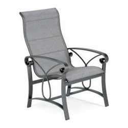 Winston - Winston Palazzo Sling Ultimate High Back Dining Chair - M4341-JAV-953 - Shop for Chairs and Sofas from Hayneedle.com! When there's no place that you'd rather be than enjoying some fresh air there's no other place that you should be than lounging in the Winston Palazzo Sling Ultimate High Back Dining Chair. The wide arms high-ergonomic back and elegantly curved details of this all-weather chair are crafted from a combination of heavy-walled and cast aluminum an ideal material for the outdoors as it won't rust weather or stain. A wide range of classic finishes combined with the dazzling selection of fade-resistant Sunbrella fabrics let you build the kind of outdoor environment that you'll never want to leave. The aluminum frame and quick-drying sling fabric give this chair a weather-resistant easy-to-clean quality that's hard not to love.About Winston Furniture Company Started in 1975 Winston Furniture Company manufactured simple aluminum furniture with virgin vinyl straps. As the popularity of casual furniture increased and consumers craved comfort Winston answered the call by being the first company to introduce cushioned mildew-resistant fabrics for outdoor use. In 1982 Winston was once again at the forefront by adding stylish easy-to-maintain sling furniture to its product line. Today the Winston Furniture line is comprised of cushion and sling furniture with a host of styles. A variety of powder-coated paint finishes and sling colors along with over a hundred fabric selections allow you to create just the look you need. All Winston Furniture product materials are proudly sourced in the U.S.A. Welding is completed in a state-of-the-art manufacturing facility in Juarez Mexico. Products are shipped to El Paso Texas for finishing and final inspection before being shipped to your door. Winston Furniture Company Inc. has earned several design and service awards from retailers over the past 25 years. The most notable of these honors is the National Association