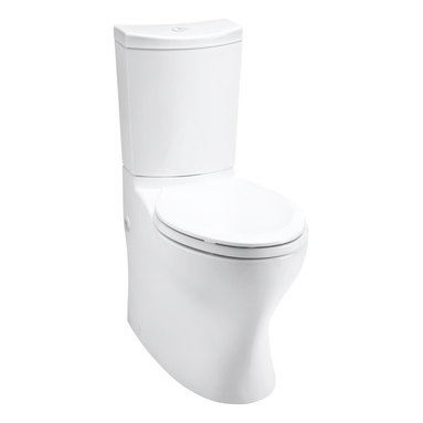 KOHLER - KOHLER K-3723-0 Persuade Curv Comfort Height Two-Piece Elongated Toilet - KOHLER K-3723-0 Persuade Curv Comfort Height Two-Piece Elongated Toilet in White