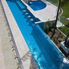 Modern Pool by Sareen Stone