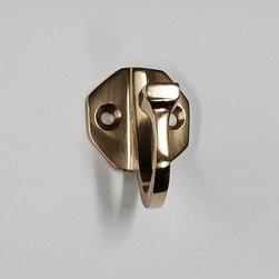 Octagonal Plate Single Robe Hook #2553 in Polished Brass -