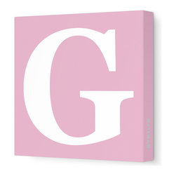 "Avalisa - Letter - Upper Case 'G' Stretched Wall Art, 18"" x 18"", Pink - Spell it out loud. These uppercase letters on stretched canvas would look wonderful in a nursery touting your little one's name, but don't stop there; they could work most anywhere in the home you'd like to add some playful text to the walls. Mix and match colors for a truly fun feel or stick to one color for a more uniform look."