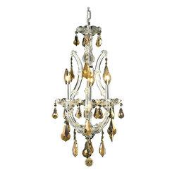 Elegant Lighting - Elegant Lighting 2801D12C-GT/RC Maria Theresa Collection Hanging Fixture - Elegant Lighting 2801D12C-GT/RC Maria Theresa Collection Hanging Fixture